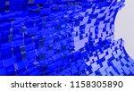dark blue convex cubes three...   Shutterstock . vector #1158305890