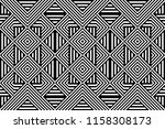 seamless pattern with striped... | Shutterstock .eps vector #1158308173