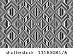 seamless pattern with striped... | Shutterstock .eps vector #1158308176