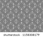 seamless pattern with striped... | Shutterstock .eps vector #1158308179