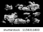 collection of white clouds... | Shutterstock . vector #1158311803