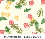 tropical background. green ... | Shutterstock .eps vector #1158316786