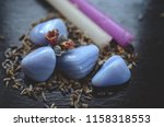 set of 2 blue lace agate... | Shutterstock . vector #1158318553