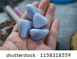 set of 2 blue lace agate... | Shutterstock . vector #1158318559