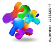 liquid multi colored background.... | Shutterstock .eps vector #1158320149