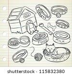 Stock vector pet stuff doodle 115832380