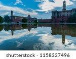 reflection of rashtrapati... | Shutterstock . vector #1158327496