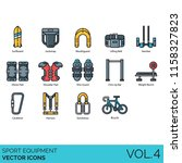 sport equipment vector icons.  | Shutterstock .eps vector #1158327823