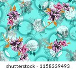 seamless floral background ... | Shutterstock . vector #1158339493