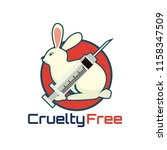 not tested on animals  cruelty... | Shutterstock .eps vector #1158347509