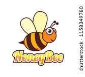 bumble bee   honey bee logo ... | Shutterstock .eps vector #1158349780