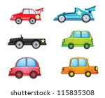 Illustration Of Various Cars O...