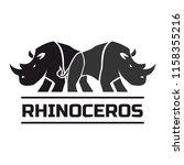 rhinos logo isolated on white... | Shutterstock .eps vector #1158355216