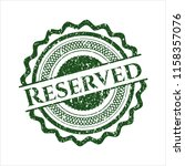 green reserved distressed... | Shutterstock .eps vector #1158357076