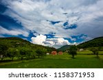 serbian rural village green... | Shutterstock . vector #1158371953