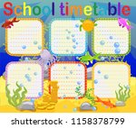 school timetable with marine... | Shutterstock .eps vector #1158378799