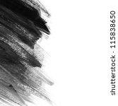 black hand painted brush stroke ... | Shutterstock . vector #115838650