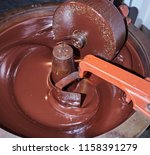 process of conching and... | Shutterstock . vector #1158391279