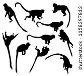 set of vector silhouettes of... | Shutterstock .eps vector #1158397813