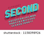 original 3d display font design ... | Shutterstock .eps vector #1158398926