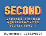 original 3d display font design ... | Shutterstock .eps vector #1158398929