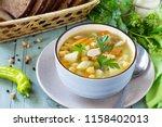 healthy food  chicken and... | Shutterstock . vector #1158402013