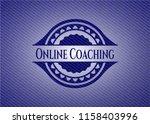 online coaching badge with... | Shutterstock .eps vector #1158403996