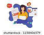 customer centricity reputation... | Shutterstock .eps vector #1158406579