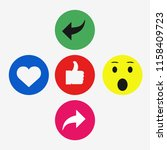 vector like comment share icon... | Shutterstock .eps vector #1158409723