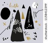 abstract scandinavian pattern ... | Shutterstock .eps vector #1158412399