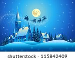 church and houses in the... | Shutterstock .eps vector #115842409