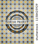 genuine product arabesque badge.... | Shutterstock .eps vector #1158425929
