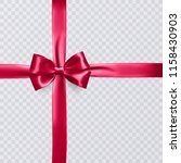 realistic red ribbon or bow on... | Shutterstock .eps vector #1158430903