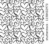 pattern of hearts hand drawn... | Shutterstock .eps vector #1158432973