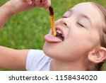 The Child Is Eating Jelly Cand...
