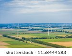 aerial photography of dutch... | Shutterstock . vector #1158444583