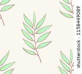 eucalyptus seamless pattern ... | Shutterstock .eps vector #1158449089