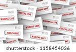 mailing list marketing rental... | Shutterstock . vector #1158454036