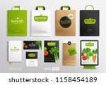 brand identity mock up set with ... | Shutterstock .eps vector #1158454189