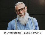 senior hipster with stylish... | Shutterstock . vector #1158459343