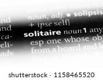 solitaire word in a dictionary. ... | Shutterstock . vector #1158465520
