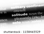 solitude word in a dictionary....   Shutterstock . vector #1158465529