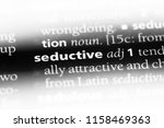 seductive word in a dictionary. ... | Shutterstock . vector #1158469363