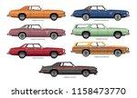 set of vector drawings of... | Shutterstock .eps vector #1158473770