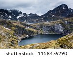 lakes tennesvatnet and... | Shutterstock . vector #1158476290