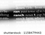 ranch word in a dictionary.... | Shutterstock . vector #1158479443