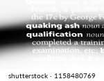 qualification word in a... | Shutterstock . vector #1158480769
