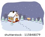 winter cottage in the forest. | Shutterstock .eps vector #115848079