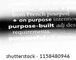 purpose built word in a... | Shutterstock . vector #1158480946