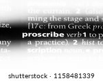Small photo of proscribe word in a dictionary. proscribe concept.
